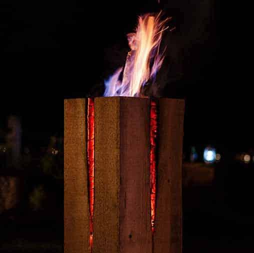Schwedenfeuer quadrat brennend