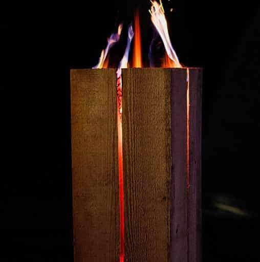 Schwedenfeuer, quadrat brennend