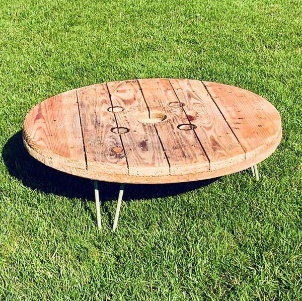 Tisch Kabelrolle natur