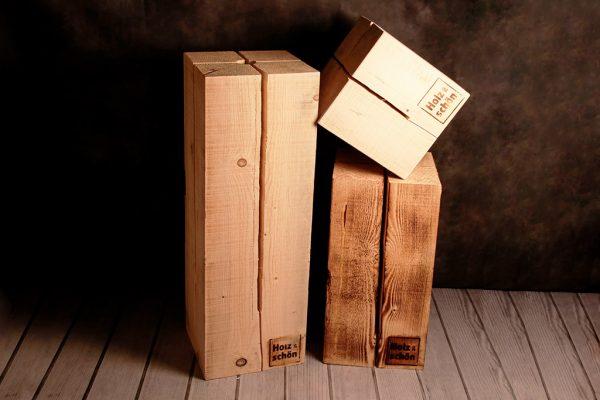 Schwedenfeuer von Holz ist Schön in drei Größen