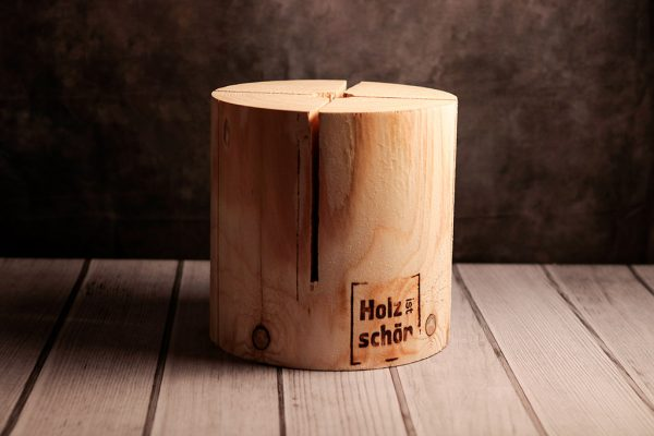 Schwedenfeuer von Holz ist Schön rund, 30 cm