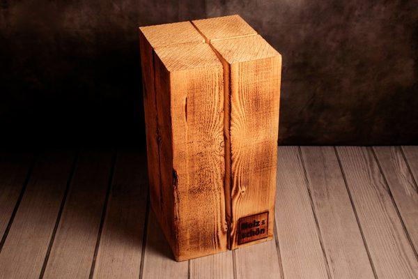 Schwedenfeuer von Holz ist Schön quadratisch, 60 cm