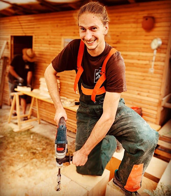Holz ist Schön - Schwedenfeuer Herstellung