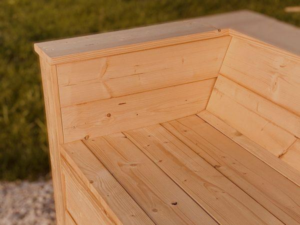 Holz Sofa Armlehne