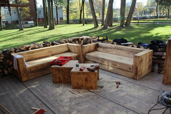 Holz Sofa von Holz ist Schön beim Aufbau