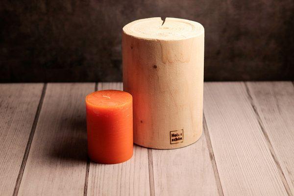 Kerzenständer rund aus Tanne