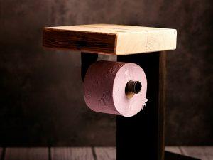 Toilettenpapierhalter Altholz